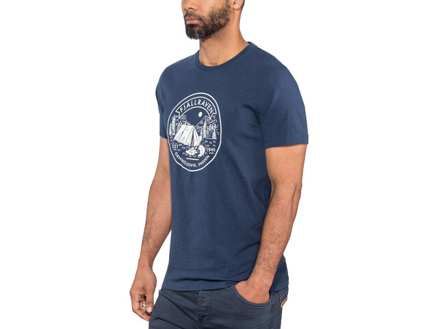 Fjällräven Trekking Equipment Camiseta Hombre, dark navy